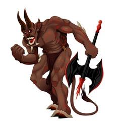 Angry demon vector