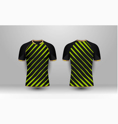 black and green stripe with gold pattern sport vector image