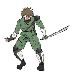 brave warrior vector image vector image