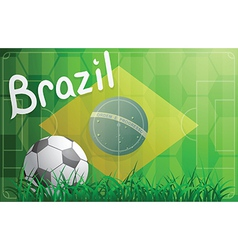 Brazil football world cup theme vector image vector image