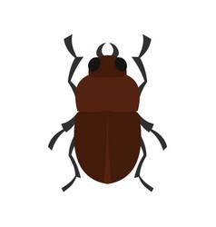 Bug icon flat style vector