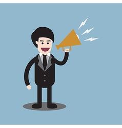businessman megaphone vector image
