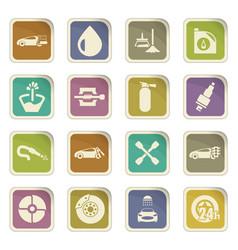 car shop icons set vector image