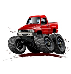 Cartoon monster truck one-click repaint vector