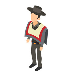 chilean icon isometric style vector image vector image