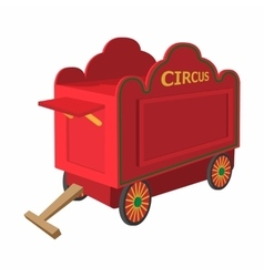 Circus wagon cartoon vector