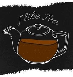 Hand drawn tea concept vector image vector image