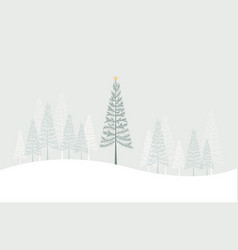 happy christmas greeting card vector image vector image