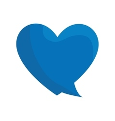Heart love isolated icon vector