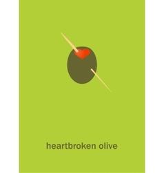 Heartbroken olive vector image