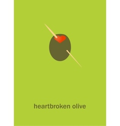Heartbroken olive vector image vector image