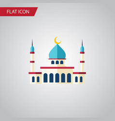 Isolated structure flat icon islam element vector