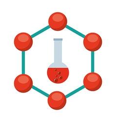 laboratory icon vector image vector image