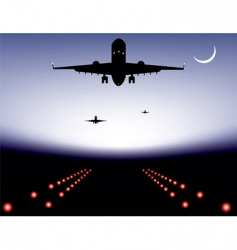 landing plane vector image vector image