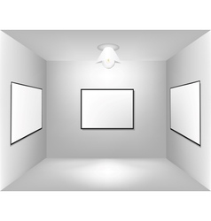 Large empty room with a advertising board vector image