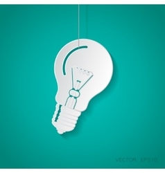 lightbulb blue icon Eps10 vector image