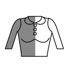 Line nice blouse cloth style vector