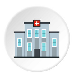 Medical center building icon circle vector