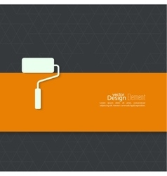 Paint roller with banner vector image