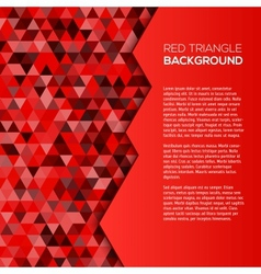 Red geometric background with triangles vector