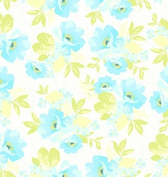 Seamless floral pattern with blue flowers vector image