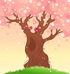 Spring tree background vector image