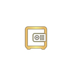strongbox computer symbol vector image