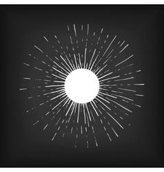 Sun engraving style vector