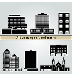 Albuquerque landmarks and monuments vector