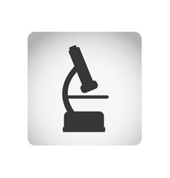 Monochrome square frame with silhouette microscope vector