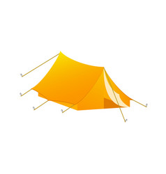 Camping tent in orange design vector