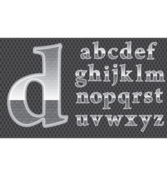 Glass alphabet vector