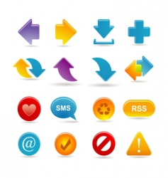 Arrows icon set vector