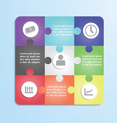 Jigsaw puzzle infographic template vector image