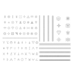 Big set of geometric hipster shapes vector