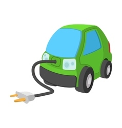 Electric car cartoon icon vector