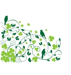 Bird shamrock vector
