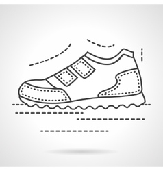 Sports sneaker flat line icon vector