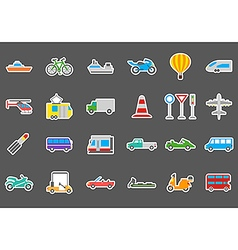 Transport stickers set vector