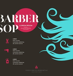 Bright poster for the barber shop vector