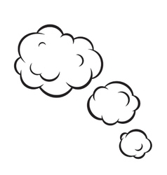 Pop art bubble clouds isolated vector image