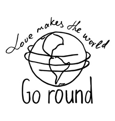 love makes the world go round2 vector image