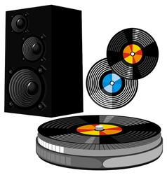 Disco equipment vector image