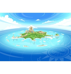 Adventure island - treasure island vector