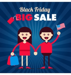 Black Friday Characteres vector image vector image