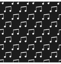 Black music seamless pattern vector