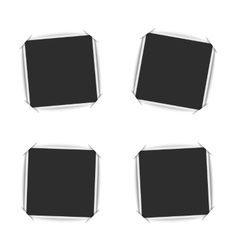 Blank photo frames set collection instant vector