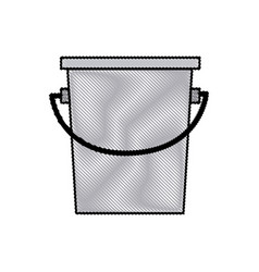 Bucket fishing equipment object drawing vector
