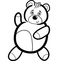 Cartoon Teddy Bear for Coloring vector image vector image