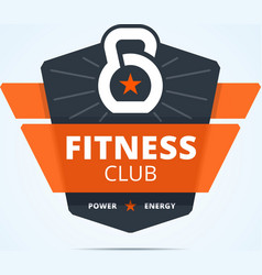 Fitness club logo vector